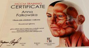 certyfikat mezoterapia igłowa Anna Falkowska